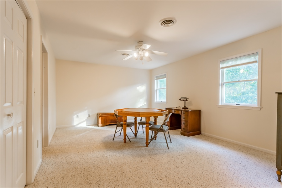 Real Estate Photography - 2 Blue Heron Dr, Georgetown, DE, 19947 - upstairs bedroom w/ private bath