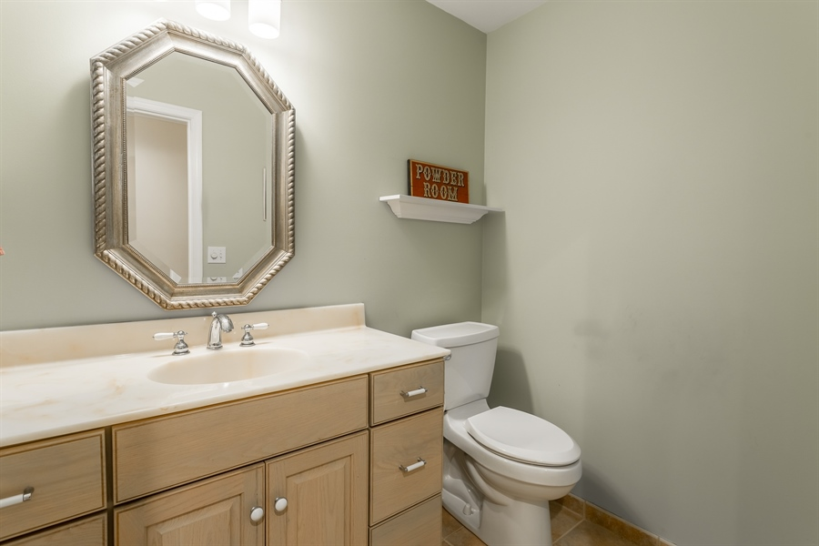Real Estate Photography - 2 Blue Heron Dr, Georgetown, DE, 19947 - Down stairs powder room