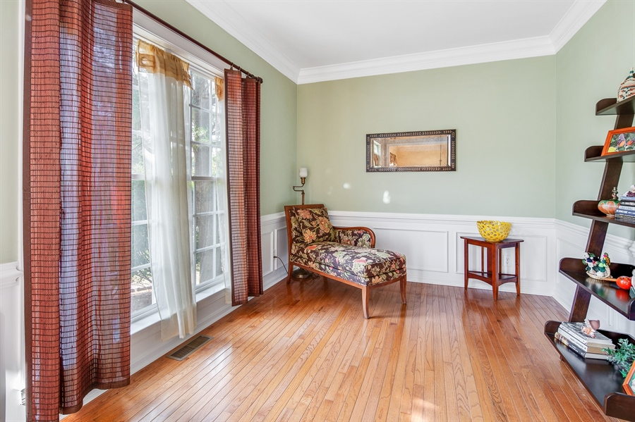 Real Estate Photography - 121 Borden Way, Lincoln University, PA, 19352 - Front sitting room...gorgeous hardwood floors!