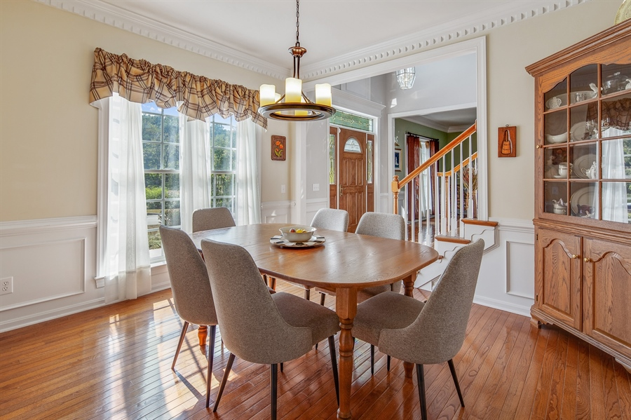 Real Estate Photography - 121 Borden Way, Lincoln University, PA, 19352 - Spacious formal dining room with custom moldings