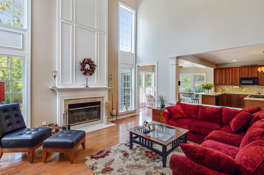 Real Estate Photography - 121 Borden Way, Lincoln University, PA, 19352 - 2 story family room is flooded with natural light