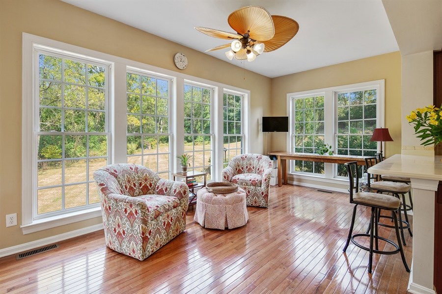 Real Estate Photography - 121 Borden Way, Lincoln University, PA, 19352 - Enjoy your morning coffee in the Florida room!