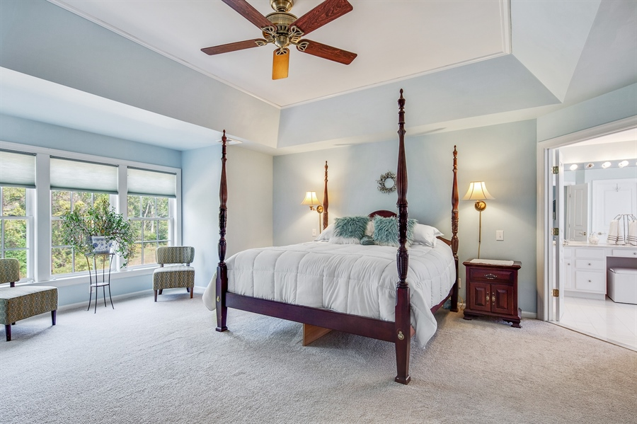Real Estate Photography - 121 Borden Way, Lincoln University, PA, 19352 - Relax in the master suite....