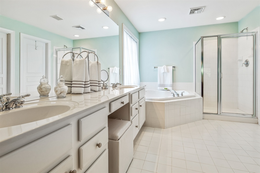 Real Estate Photography - 121 Borden Way, Lincoln University, PA, 19352 - ....and updated master bath.