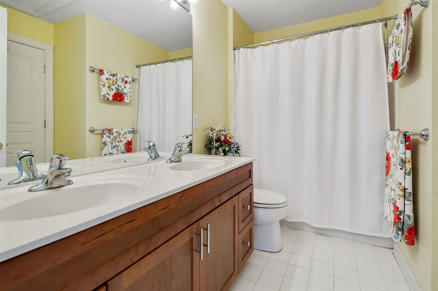 Real Estate Photography - 121 Borden Way, Lincoln University, PA, 19352 - The hall bath ....