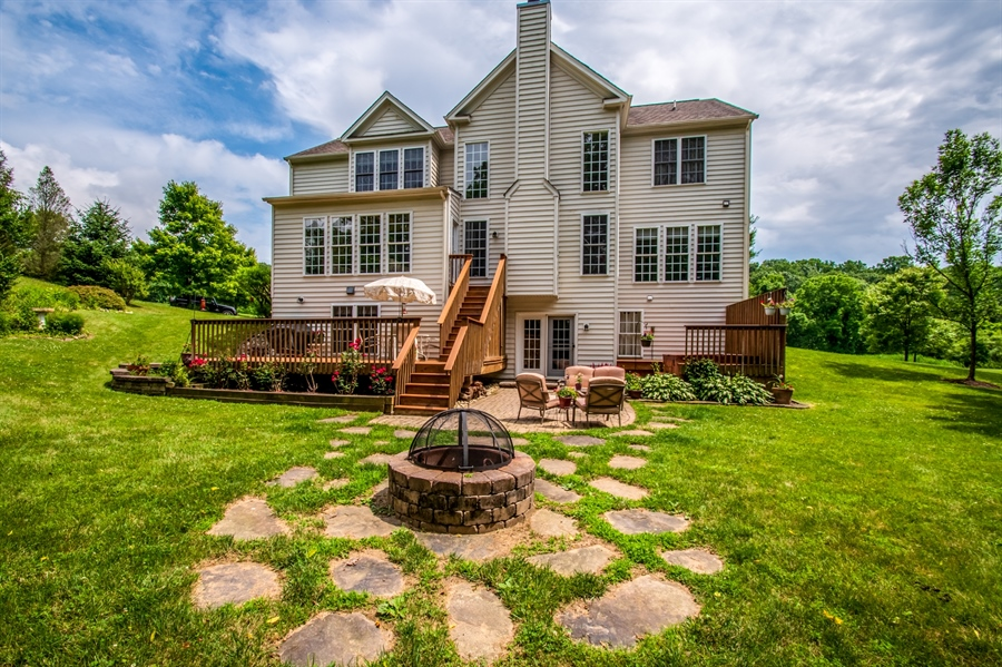 Real Estate Photography - 121 Borden Way, Lincoln University, PA, 19352 - There's even a built in fire pit!