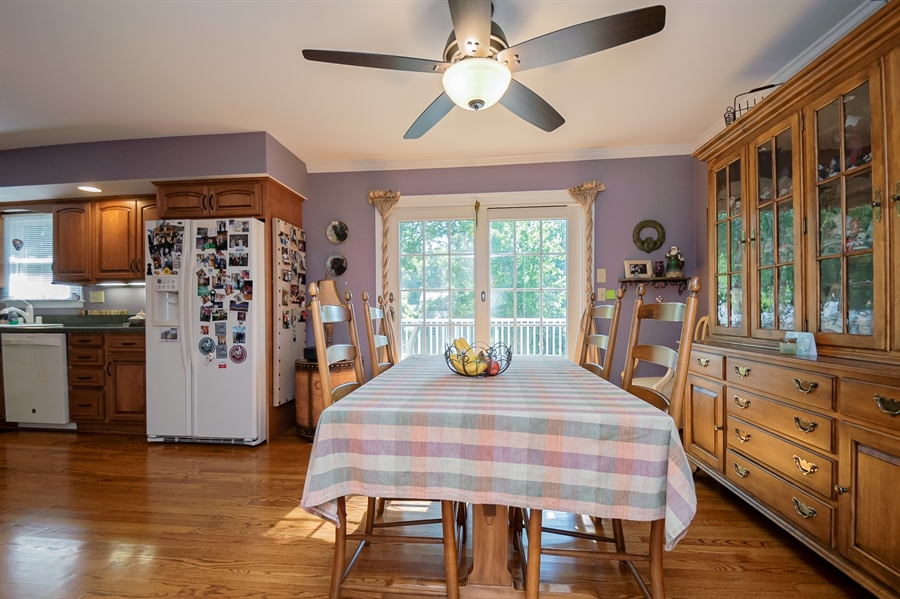 Real Estate Photography - 318 Mitchell Dr, Wilmington, DE, 19808 - Dining room with view of kitchen