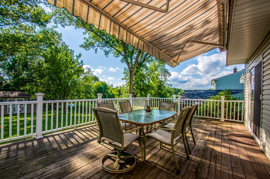 Real Estate Photography - 318 Mitchell Dr, Wilmington, DE, 19808 - Deck with Retractable Awning