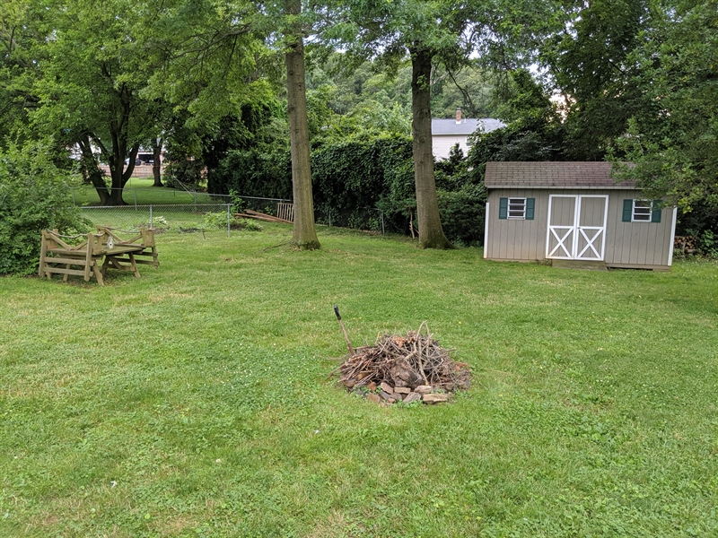 Real Estate Photography - 318 Mitchell Dr, Wilmington, DE, 19808 - Large Backyard with Shed