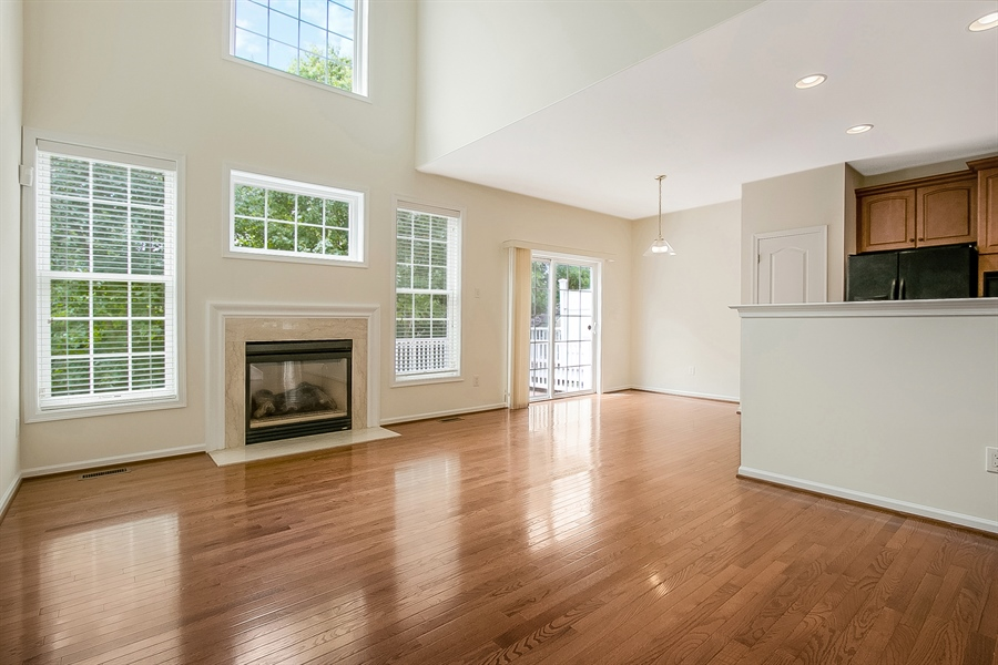 Real Estate Photography - 140 Farm Meadows Ln, Hockessin, DE, 19707 - Family Room with Fireplace