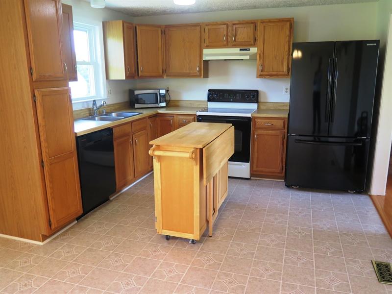 Real Estate Photography - 36  Wheatley Road, Northeast, DE, 21901 - Oak Kitchen