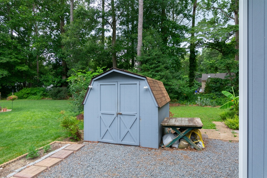 Real Estate Photography - 32775 Bridgeway Dr E, Lewes, DE, 19958 - Detached Shed for storage