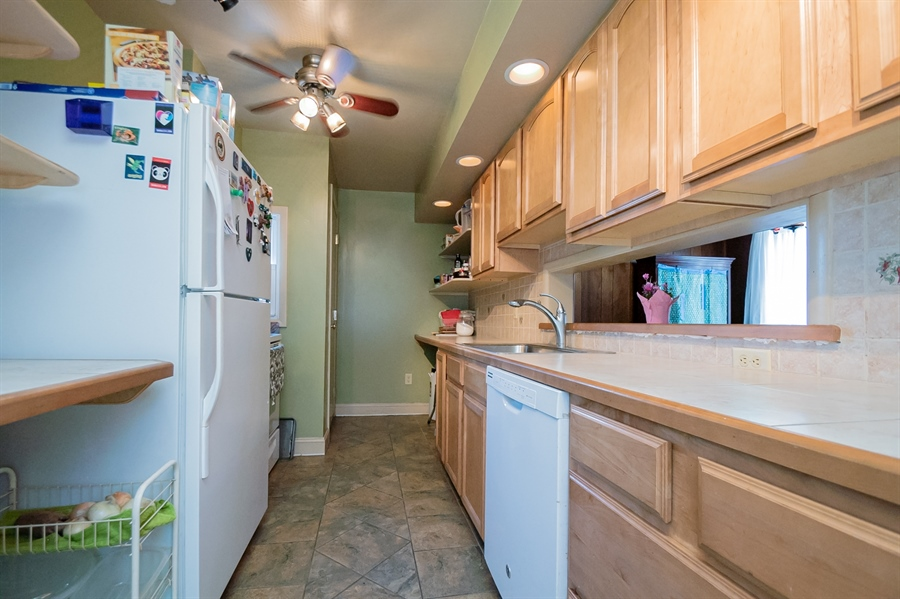 Real Estate Photography - 3112 W Court Ave, Claymont, DE, 19703 - Kitchen with ceramic tile counter