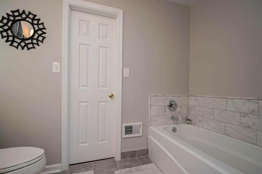 Real Estate Photography - 830 Bess Ln, Wilmington, DE, 19803 - Master Bath w/ Shower and Sep Tub