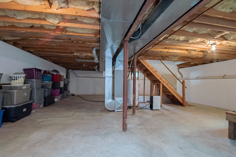 Real Estate Photography - 830 Bess Ln, Wilmington, DE, 19803 - Unfinished Lower Level- Great Storage