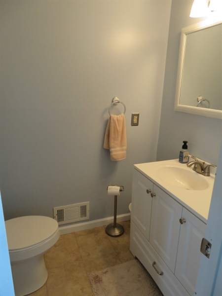 Real Estate Photography - 678 Lorewood Grove Rd, Middletown, DE, 19709 - Lower Powder Room