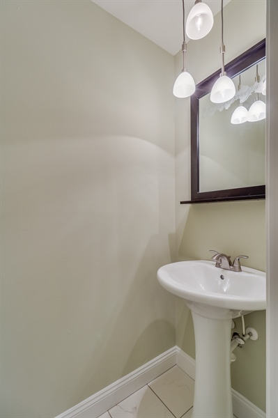 Real Estate Photography - 25 Freedom Dr, Dover, DE, 19904 - Powder Room on 1st Floor