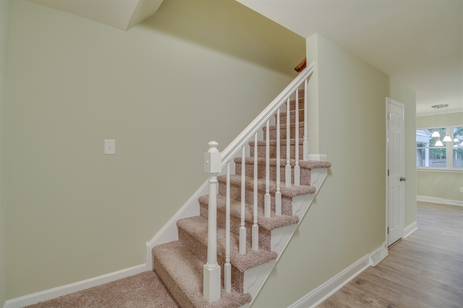 Real Estate Photography - 25 Freedom Dr, Dover, DE, 19904 - Stairs to the 2nd Floor