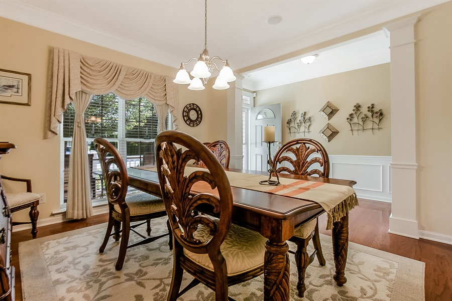 Real Estate Photography - 14 Compass Rose Way, Newark, DE, 19702 - Decorative Columns in Dining Room