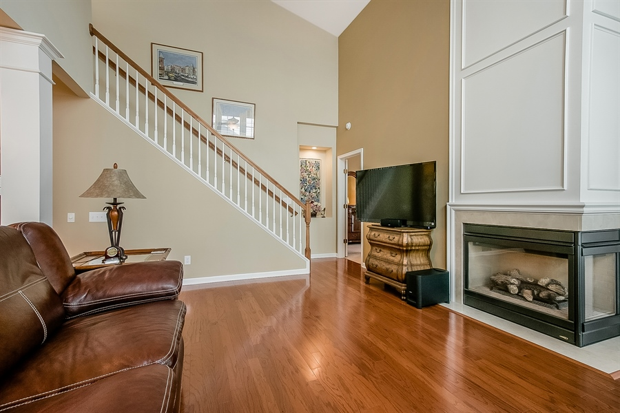 Real Estate Photography - 14 Compass Rose Way, Newark, DE, 19702 - Gas Fireplace in Great Room