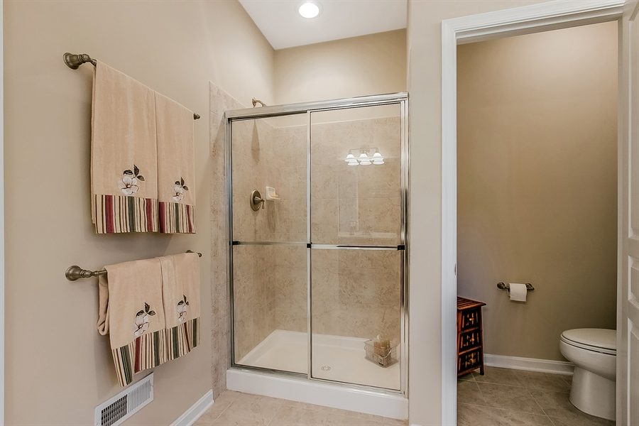 Real Estate Photography - 14 Compass Rose Way, Newark, DE, 19702 - Owner's Bathroom w/ Oversized Shower