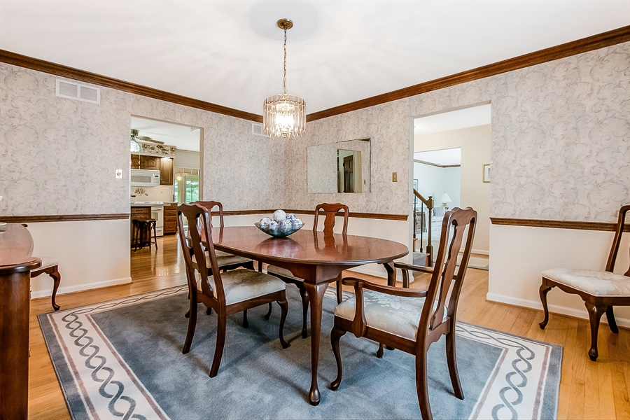 Real Estate Photography - 109 Bridleshire Ct, Newark, DE, 19711 - Gracious Dining Room