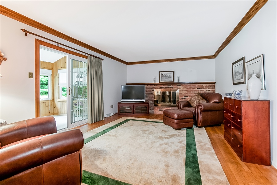 Real Estate Photography - 109 Bridleshire Ct, Newark, DE, 19711 - Family Room w/ Gas Fireplace