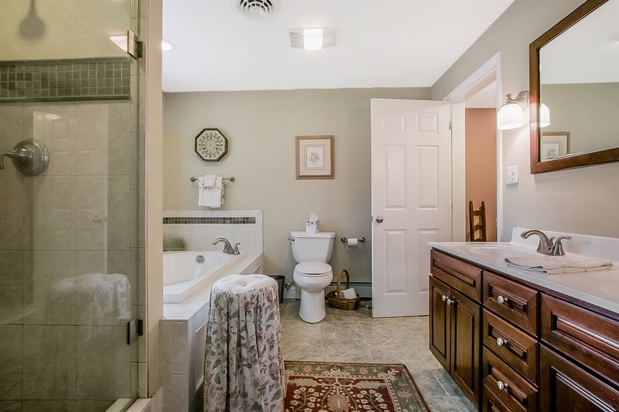 Real Estate Photography - 3112 Centerville Rd, Greenville, DE, 19807 - In-Law Suite - Bathroom View 1
