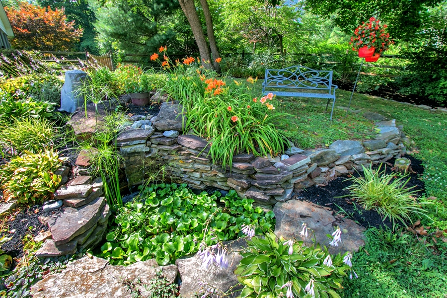 Real Estate Photography - 3112 Centerville Rd, Greenville, DE, 19807 - Pond with Waterfall