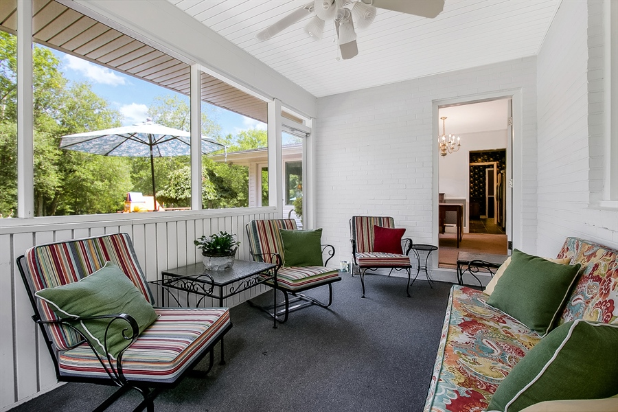 Real Estate Photography - 3112 Centerville Rd, Greenville, DE, 19807 - Screened Porch - View 2 Toward Dining Room