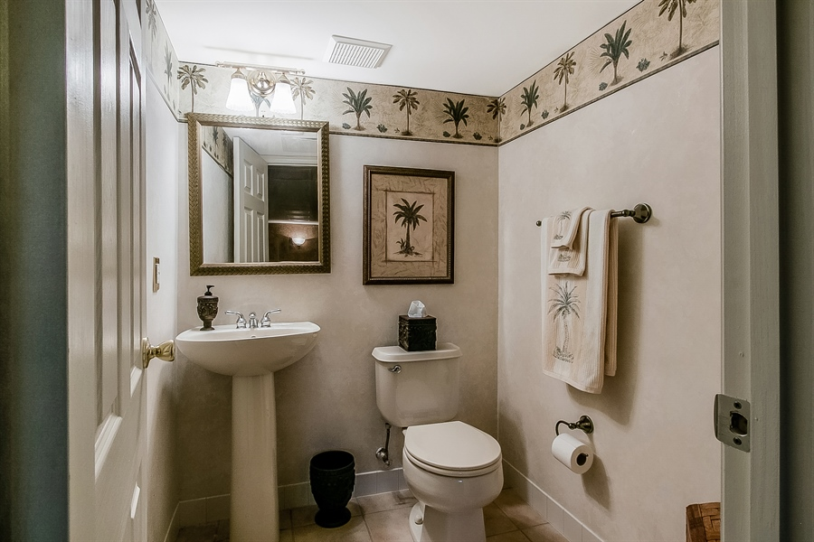Real Estate Photography - 512 Thorndale Dr, Hockessin, DE, 19707 - Lower Level Powder Room...Convenient!