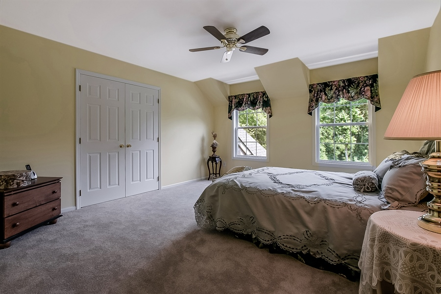 Real Estate Photography - 512 Thorndale Dr, Hockessin, DE, 19707 - Large Second Bedroom With Double Closet