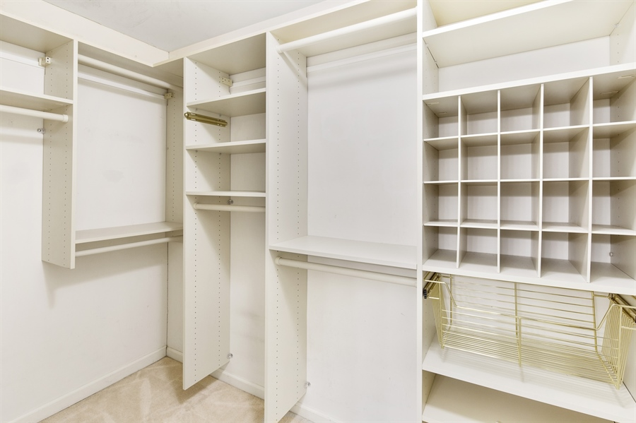 Real Estate Photography - 253 Sloan Ct, Wilmington, DE, 19808 - Custom closet in master bedroom