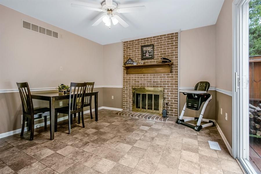 Real Estate Photography - 12 Green Meadow Ct, Newark, DE, 19711 - Family Room with Fireplace