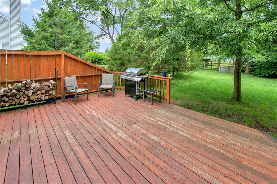 Real Estate Photography - 12 Green Meadow Ct, Newark, DE, 19711 - Deck overlooking Spacious Yard