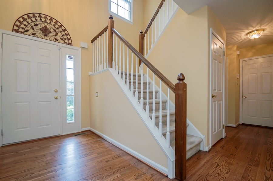 Real Estate Photography - 3 Homestead Ln, Hockessin, DE, 19707 - Beautiful Foyer With L Shaped Staircase