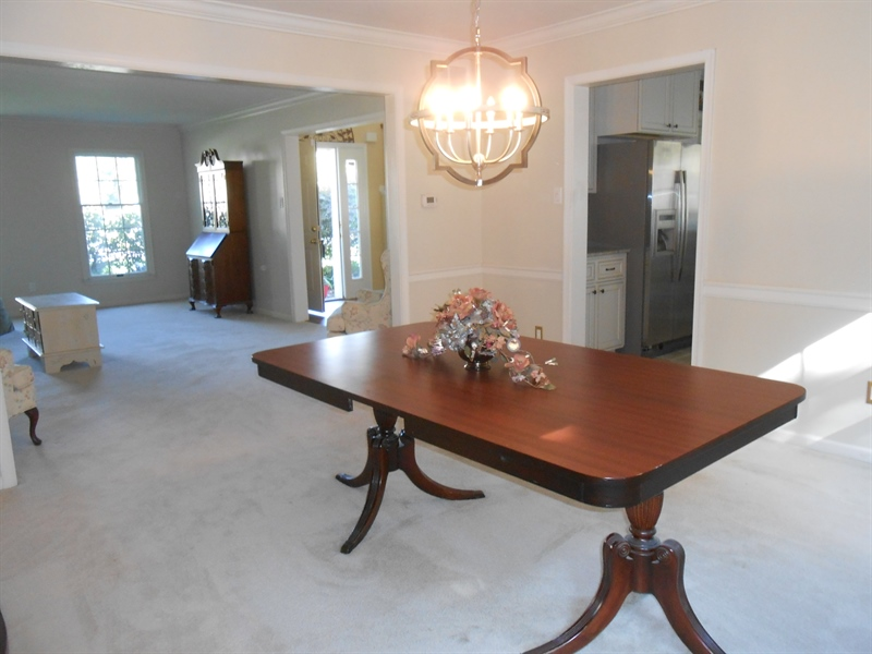 Real Estate Photography - 3 Homestead Ln, Hockessin, DE, 19707 - Large Dining Room with New Lighting Fixture