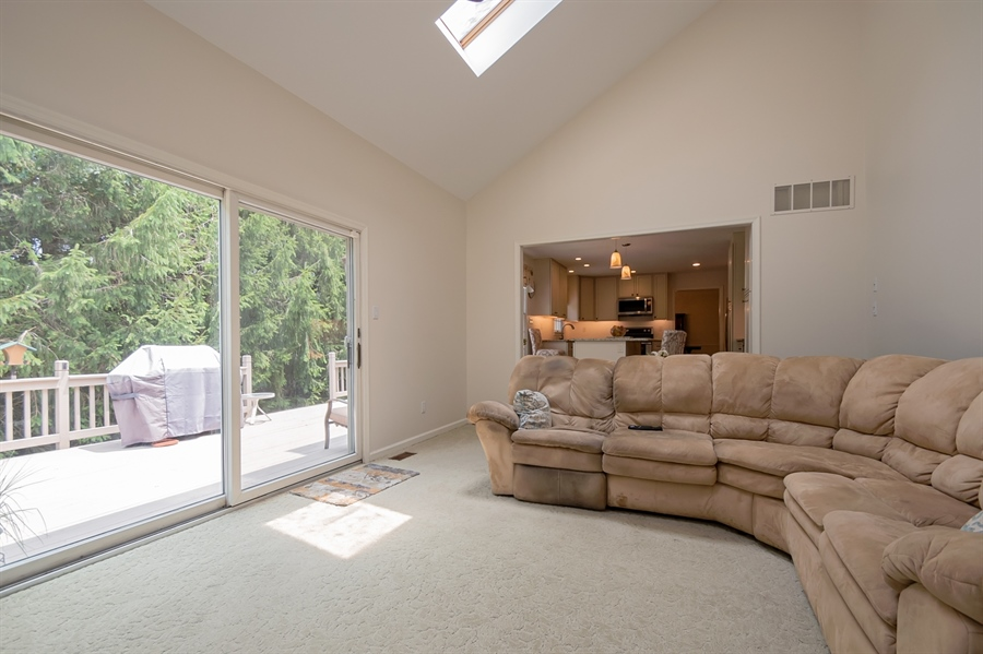 Real Estate Photography - 3 Homestead Ln, Hockessin, DE, 19707 - Family Room Opens To Deck