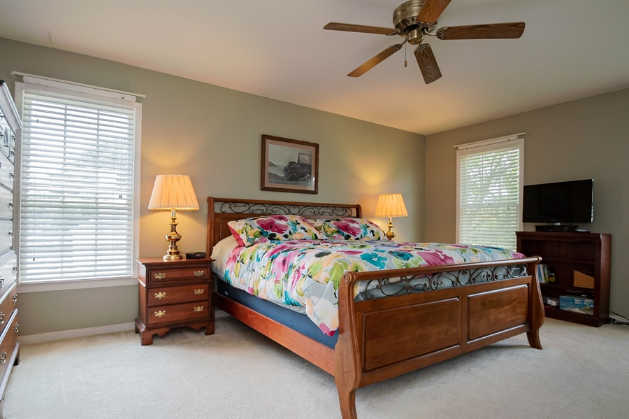 Real Estate Photography - 3 Homestead Ln, Hockessin, DE, 19707 - Master Bedroom With Ceiling Fan
