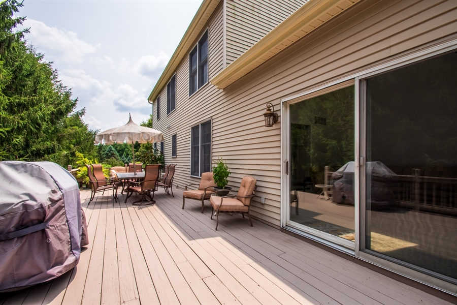 Real Estate Photography - 3 Homestead Ln, Hockessin, DE, 19707 - Large Deck Off Family Room