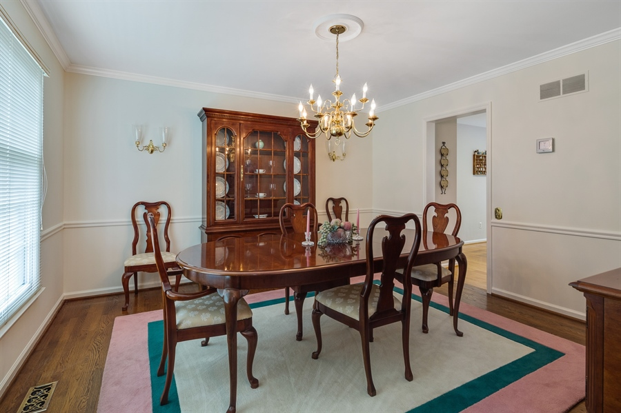 Real Estate Photography - 231 Charleston Dr, Wilmington, DE, 19808 - DR w/Hardwoods & Custom Moldings