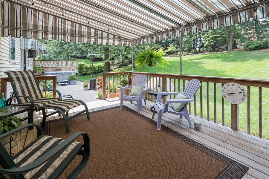 Real Estate Photography - 231 Charleston Dr, Wilmington, DE, 19808 - Custom Awning