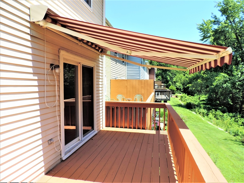 Real Estate Photography - 310 2nd St, Newark, DE, 19711 - Deck with retractable awning! Great shade!!