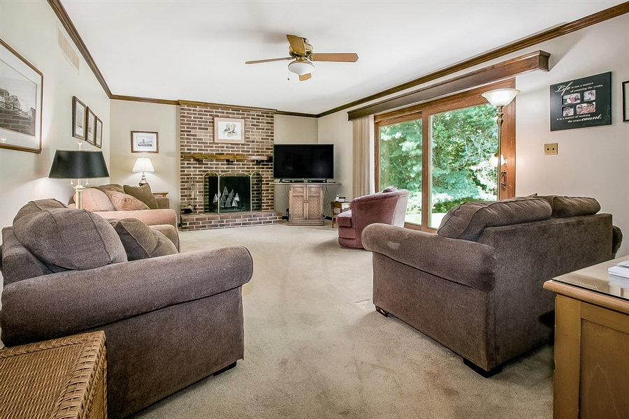 Real Estate Photography - 59 Forest Creek Dr, Hockessin, DE, 19707 - Family Room with bar area