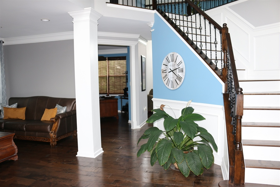 Real Estate Photography - 127 Willow Grove Mill Dr, Middletown, DE, 19709 - Dramatic 2-Story Entryway