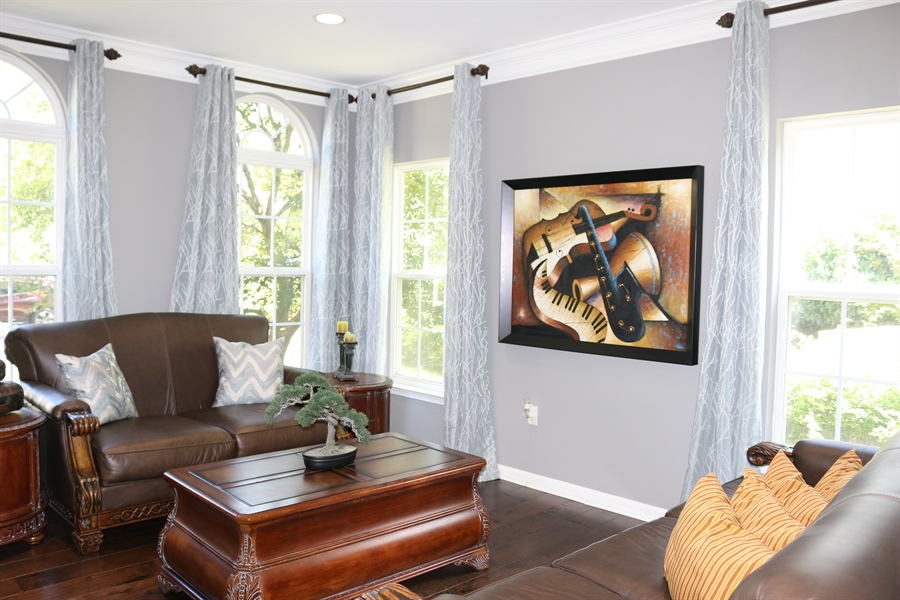 Real Estate Photography - 127 Willow Grove Mill Dr, Middletown, DE, 19709 - Formal Living Room w/ Walls Of Windows