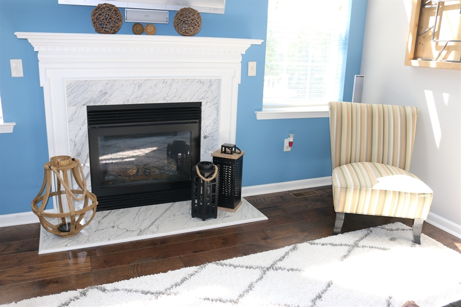 Real Estate Photography - 127 Willow Grove Mill Dr, Middletown, DE, 19709 - Marble Fireplace For Those Chilly Evenings