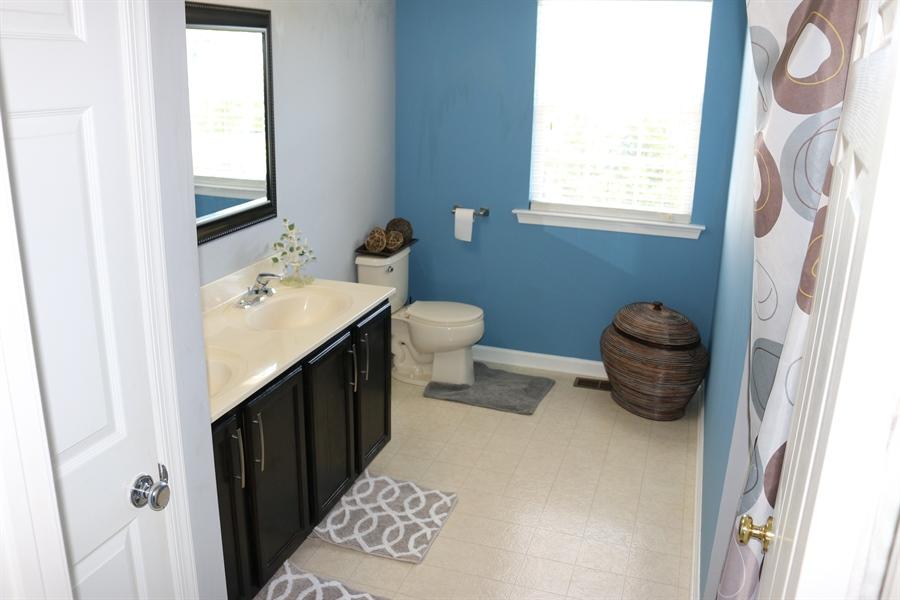 Real Estate Photography - 127 Willow Grove Mill Dr, Middletown, DE, 19709 - Hallway Bathroom w/ Linen Closet