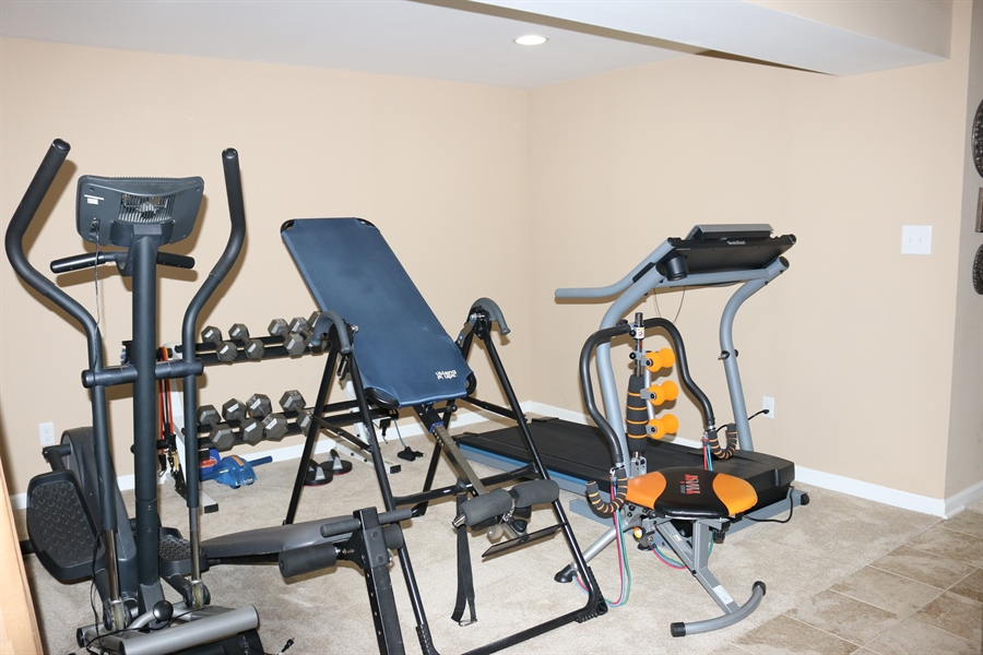 Real Estate Photography - 127 Willow Grove Mill Dr, Middletown, DE, 19709 - Designated Work Out/Play Area