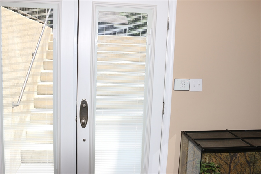 Real Estate Photography - 127 Willow Grove Mill Dr, Middletown, DE, 19709 - French Doors w/ Built-In Blinds